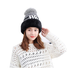SiYing sweet and lovely ladies winter plus velvet thick knit warm hat