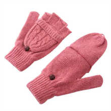 SiYing Fashion Flip half finger women's warm knitted gloves