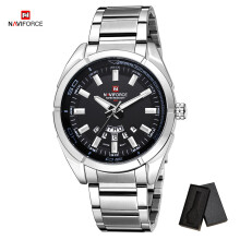 NAVIFORCE Brand 9038 Men Quartz Watches 30M waterproof stainless steel band auto date wristwatch