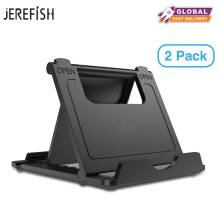 JEREFISH 2Pack Plastic Adjustable Desk Phone Stand Holder for iPhone 6s 7 Plus 8 8Plus Tablet Bracket Desktop Mobile Phone Holde