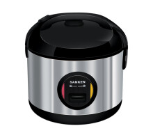 Sanken SJ-3030BK Stainless Steel Rice Cooker - Black [2L] Black