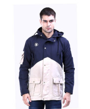G-SHOP - MEN SWEATER JAKET HOODIES DISTRO PRIA - GUN 1423 - NAVY  SIZE- XL