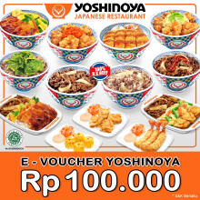 YOSHINOYA - Value Voucher Rp 100.000
