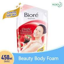 BIORE Body Foam Cheerful Chocoberry Pouch 450 ml