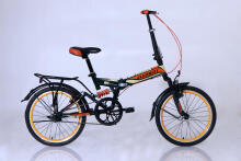 Element Folding 69 Single Speed Size 20  - Hitam List Hijau