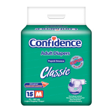 CONFIDENCE Adult Diapers Classic [M] 15's