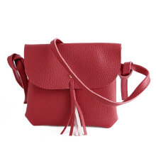 [LESHP]4 in 1 PU Leather Bag Tote Beg Handbags Sling Adjustable Shoulder Red