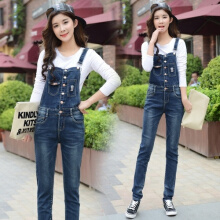 Allgood Fashion jumpsuits jeans Korea gaya Wanita Jumpsuit Denim Overall Kaos Rompers womens Celana Jeans Bodysuit