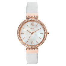 Fossil ES4581 Madeline Ladies White Mother of Pearl Dial White Leather Strap [ES4581]