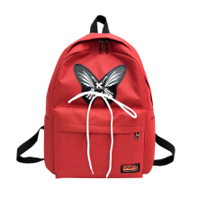 YOOHUI Bow Canvas Backpack women School Backpack Fashion Travel Backpack Casual Shoulder Bag