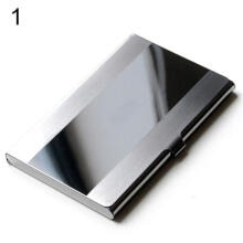 Farfi Fashion Stainless Steel Case Pocket Box Business ID Credit Card Holder Cover