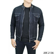 Gudang Fashion Outdoor Jackets Jeans - Fleace - Navy / JAK 2136+A