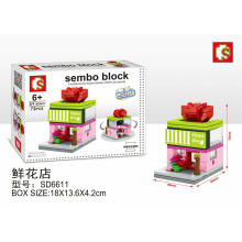 Sembo Bricks Sd6611 Flower Shop Small Pink