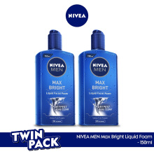 NIVEA MEN Max Bright Liquid Facial Foam 150ml - Twinpack