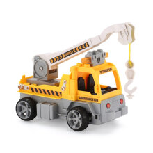 COZIME 1/18 Building Blocks Engineer Crane RC Truck Car Bricks Educational Gifts Toy Yellow