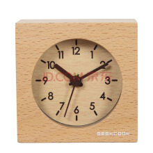 Mute wooden table alarm clock