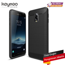 Keymao Samsung Galaxy C8 /J7+ Case Soft TPU Silicon Full Protect Cover Black