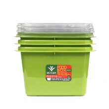 VICTORYHOME Food Box 1000ml Set of 3 - Green