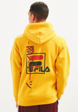 FILA Men's International Sport Hoodie Sweatshirt - color : yellow - size : S,M,L