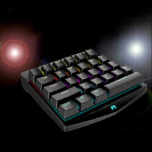 [OUTAD] 28 Keys Single-handedly One Hand Design Mechanical Keyboard With LED Backlight Black