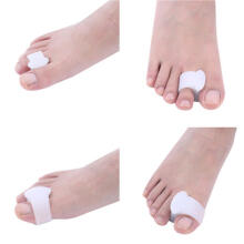 Farfi 1 Pair Silicone Bunion Corrector Toe Separator Straightener Pain Relief Tool as the pictures