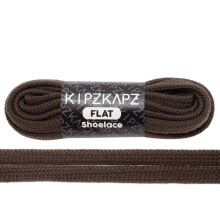 KIPZKAPZ FS73 Flat Shoelace - Walnut Brown [8mm]