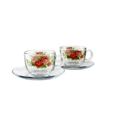 BRILIANT Cup and Saucer GM0804 Set of 4 - Revila Red