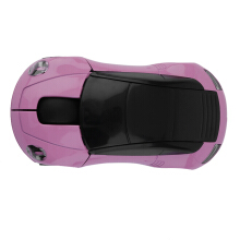 Creative 2.4GHZ Wireless Car Shape Mouse 1600DPI Wireless Optical Mouse Mice Pink