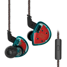 Knowledge Zenith KZ ES4 Balanced Armature With Dynamic In-ear Earphone with Mic - Cyan