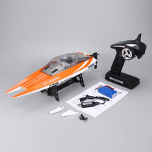 COZIME Feilun FT016 2.4G 30km/h High Speed Racing Flipped RC Boat Electric Toy RTR Orange
