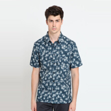 A&D Ms 1263 Mens Batik Short Sleeve - Navy
