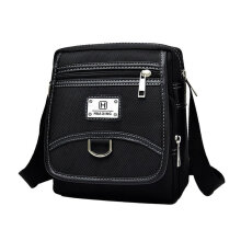 [kingstore]Man Waterproof Oxford Cloth Zipper Shoulder Bag Messenger Cross Body Black