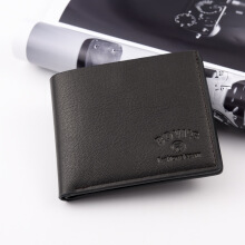 Men's Original Imported Leather Wallet New Casual Cross Striped Embossed Leather Wallet Multi Card Wallet