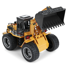 Jantens RC Car 6CH 1/18 Trucks Metal Bulldozer Charging RTR Remote Control Truck Construction Vehicle Cars Dark Yellow