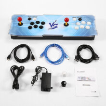 COZIME 1220 Games In One Video Fight Family Box HD Home Game Machine with 2 Joystick Blue Black  AU plug