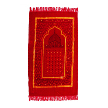 AL-AGRA Sajadah/Praying Pad Lembut 68 cm x 110 cm - Sajadah Lebar/Red - Mosque