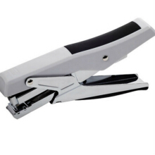 Jantens Plier Stapler Manual Metal Hand Stapler with Staples Stapling 20 Sheets Office School Grey