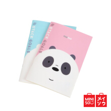 Miniso Official We Bare Bears - Memo Book 40 Pages (2 Pack) (5965)
