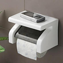 Farfi Wall Mounted Plastic Waterproof Toilet  Bathroom Tool Roll Paper Tissue Holder