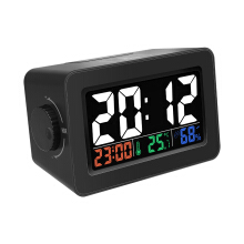 JDWonderfulHouse Digoo DG-C1R Brother Double Knob Simplified Alarm Clock Touch Adjust Backlight with Temperature Hu