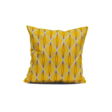 Vivere Cushion Cover Algeria Cross Yellow Gray 45x45 cm