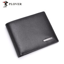 PLOVER GD5923-6A Male Men Luxury Business Short Clutch Wallet Large Capacity Black