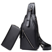 YOOHUI Famous Brand Male Bag Messenger  Shoulder Bags High-Quality Waterproof Leather Bag Black