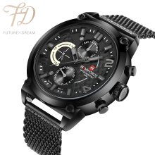 PEKY NAVIFORCE Original Luxury Brand Stainless Steel Quartz Watch Men Calendar Clock Sports Military WristWatch