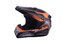 Helm Motorcross Cargloss MXC Motosport - Orange Black