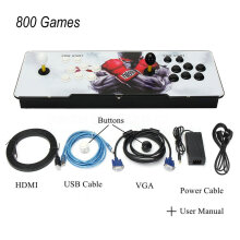 [OUTAD] 800 Games Home Multiplayer Arcade Game Console Kit Set With Double Joystick Multicolor