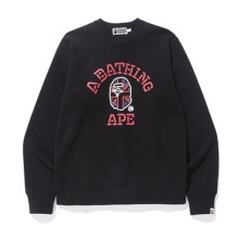BAPE UK NEON COLLEGE CREWNECK BLACK - C SIZE XL