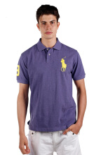 POLO RALPH LAUREN - Custom-Fit Polo Shirt Violet Men