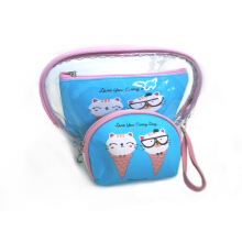 SOUGOOD - 3in1 Set Animated Cosmetic Pouch (1 set isi 3)