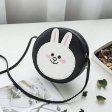 [LESHP]Women Cartoon Bag Crossbody Bags Womens Shoulder Circular Messenger Black